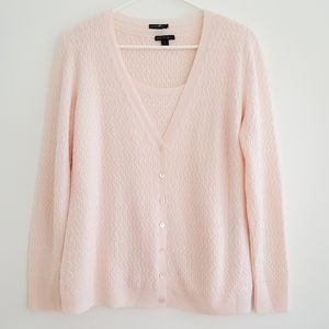 Lafayette 148 New York  Wool Cardigan with Shell